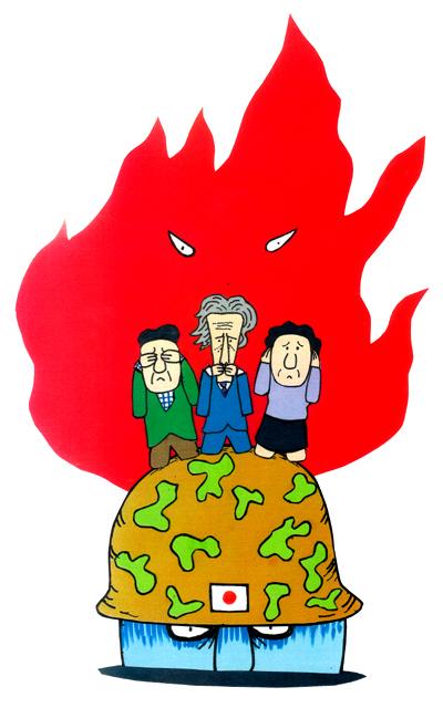 橋本勝の21世紀風刺絵日記:第10回:暴力で封じ自由のない国へ