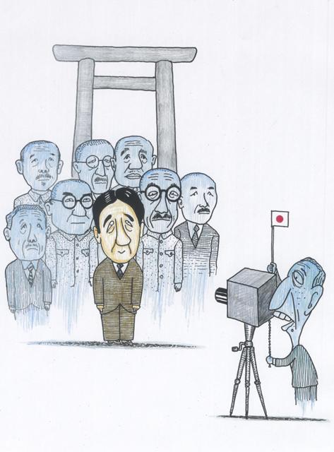 橋本勝の21世紀風刺絵日記:第11回:新首相といっしょに記念撮影