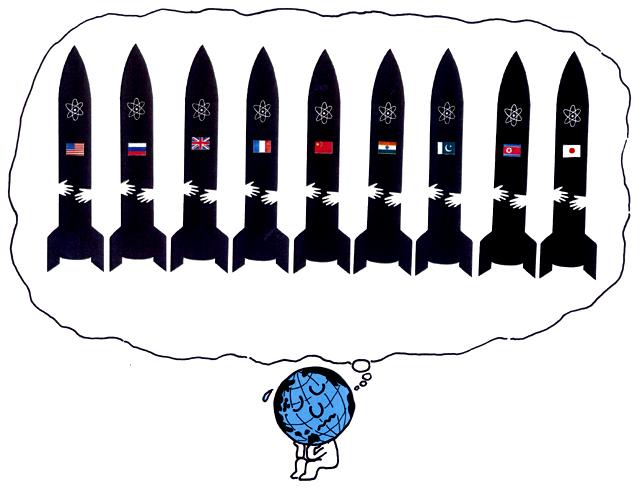 橋本勝の21世紀風刺絵日記:第25回:これが橋本版「非核5原則」だ