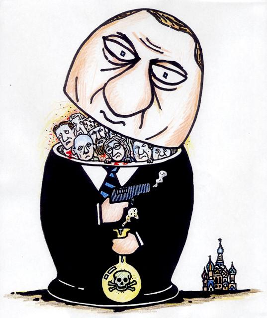 橋本勝の21世紀風刺絵日記:第26回:ロシア特産の民主主義はいかが