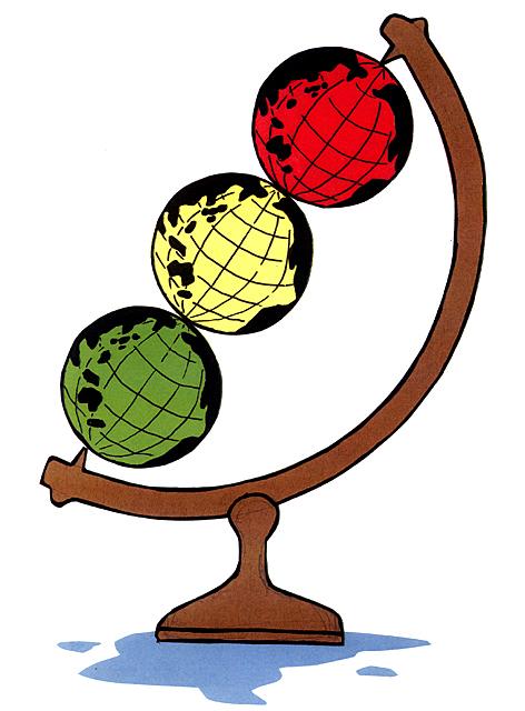 橋本勝の21世紀風刺絵日記:第37回:地球からの警告を発信する信号式地球儀はいかが