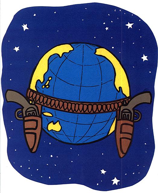 橋本勝の21世紀風刺絵日記:第44回:世界はいまだに無法地帯だから