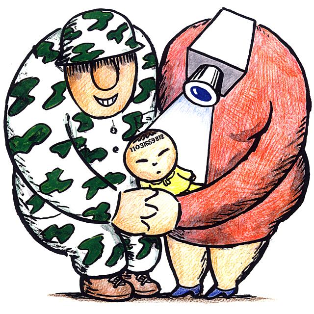 橋本勝の21世紀風刺絵日記:第53回:国民の安心・人生設計は11ケタの番号で