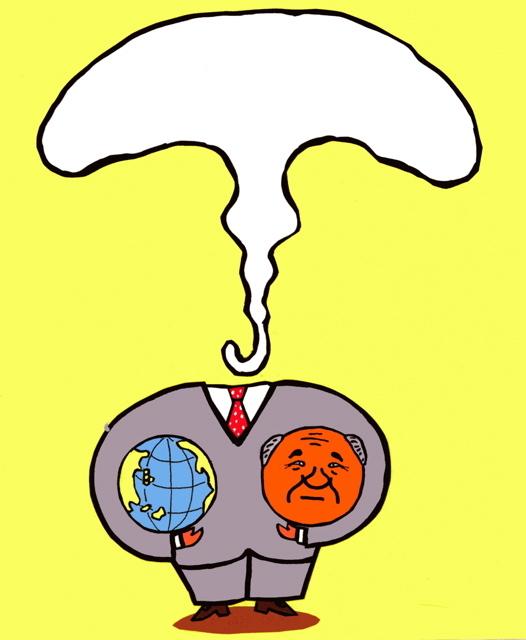 橋本勝の21世紀風刺絵日記:第55回:大臣クビでも地球をクビにするわけにはいかない
