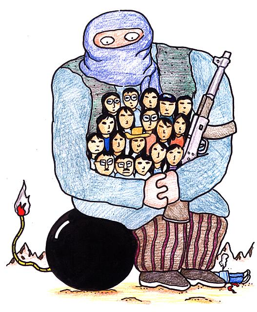 橋本勝の21世紀風刺絵日記:第58回:目的は手段を正当化しない