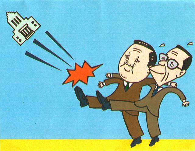 橋本勝の21世紀風刺絵日記:第72回:大連立っていったい何だったのだ!?