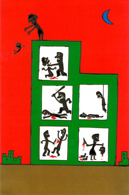 橋本勝の21世紀風刺絵日記:第85回:家族内内戦で日本は滅びる