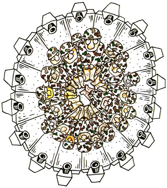 橋本勝の21世紀風刺絵日記:第87回:海兵隊というより強姦隊だ
