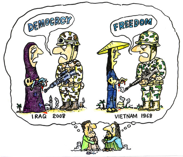 橋本勝の21世紀風刺絵日記:第92回:たった4000人の米兵しか戦死していないのか!?