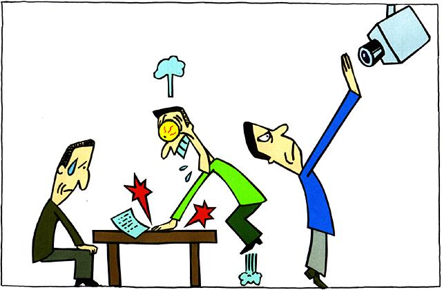 橋本勝の21世紀風刺絵日記:第102回:日本の司法の信用を失墜させる「えん罪」を防ぐには取り調べの可視化を!!