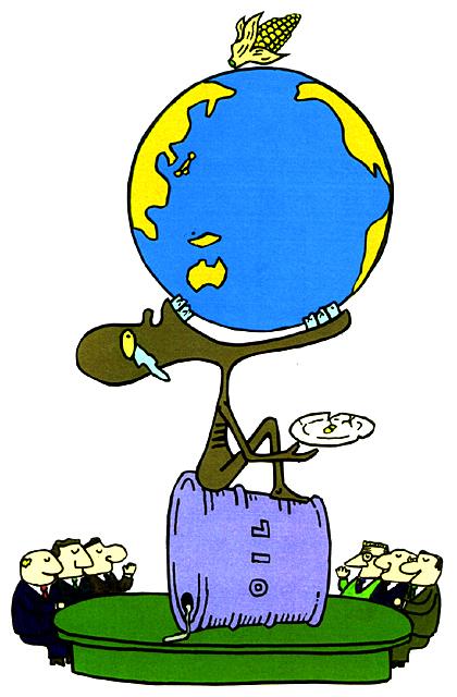 橋本勝の21世紀風刺絵日記:第103回:飢餓もビジネスにしてこそ「食の商人」!