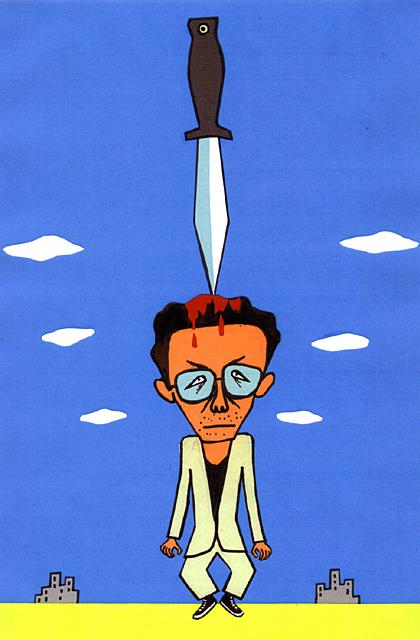 橋本勝の21世紀風刺絵日記:第104回:ダガーナイフを自らの脳に突き刺すしかなかった君よ