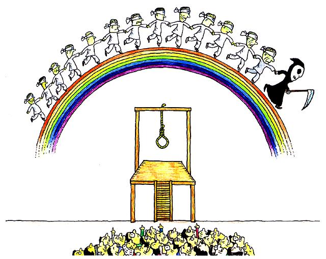 橋本勝の21世紀風刺絵日記:第107回:死刑讃歌