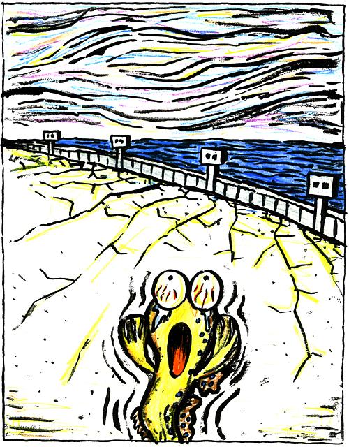 橋本勝の21世紀風刺絵日記:第108回:ムツゴロウの「叫び」が聞こえますか