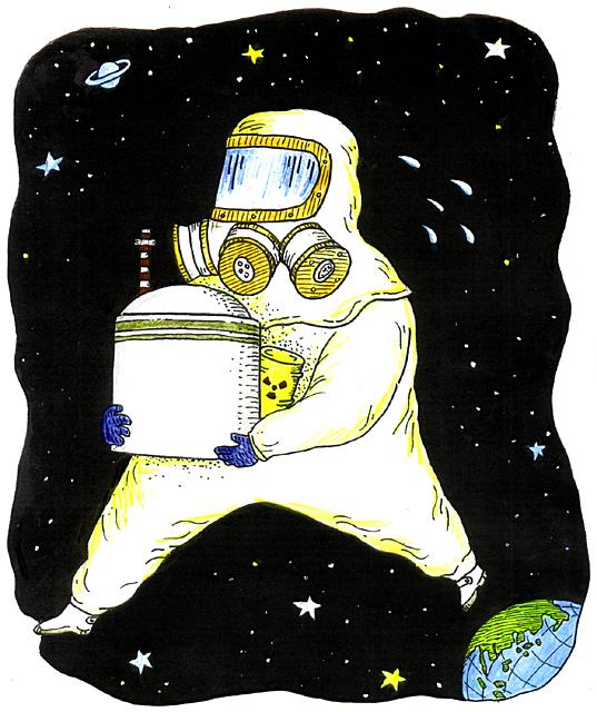橋本勝の21世紀風刺絵日記:第109回:地球からなくなってほしい原発なのに