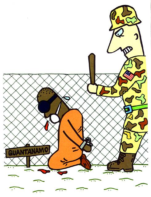 橋本勝の21世紀風刺絵日記:第111回:はたしてオバマはグアンタナモ基地をどうするつもりなのか