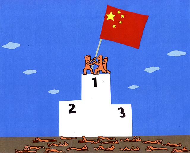 橋本勝の21世紀風刺絵日記:第112回:ああ、素晴らしきかな北京五輪