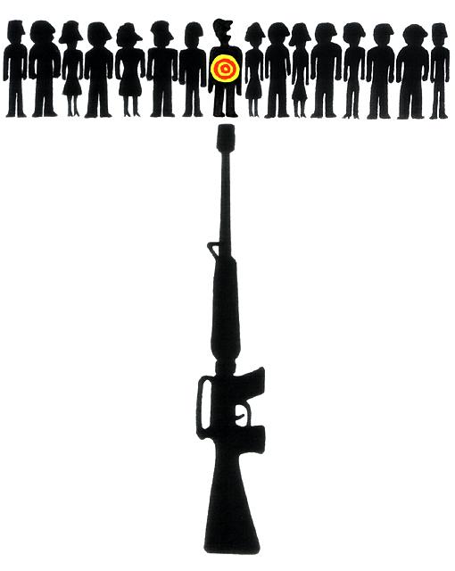 橋本勝の21世紀風刺絵日記:第113回:ブッシュよ、あんたの最後の仕事はオバマを暗殺テロから守ることだ
