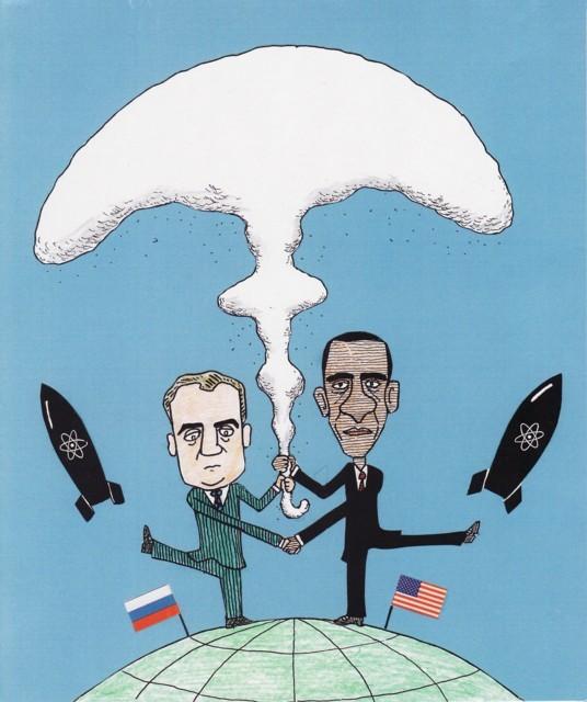 橋本勝の21世紀風刺絵日記:153回 あえて再び言う「核抑止力」を死語とせよ!!