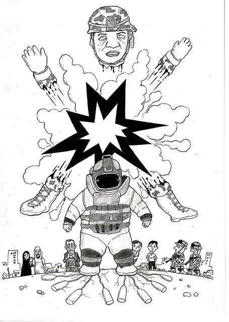 橋本勝の21世紀風刺絵日記:155回 「ハート・ロッカー」は、なぜアカデミー賞をとれたのか?