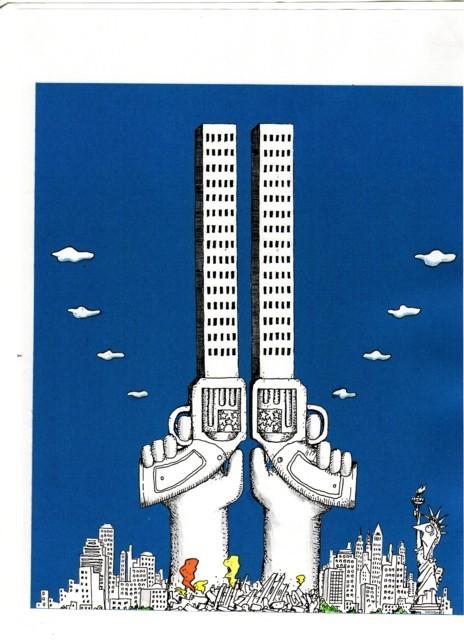 橋本勝の21世紀風刺絵日記:161回 アメリカはいつになったら「西部劇」から抜け出すのだ