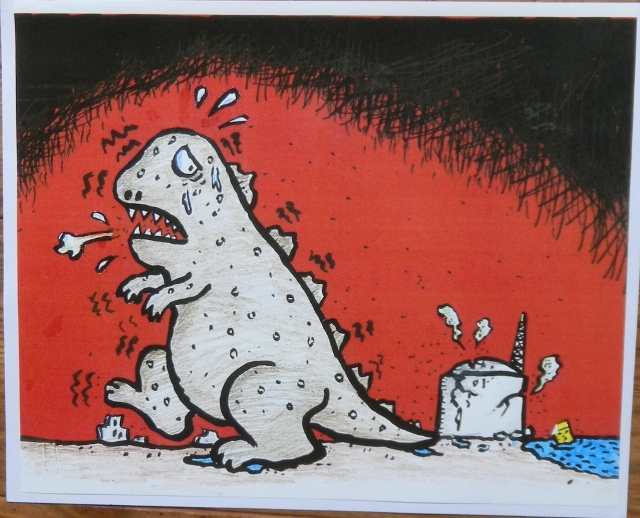 橋本勝の21世紀風刺絵日記:180回  いまこそゴジラの想像力を!!