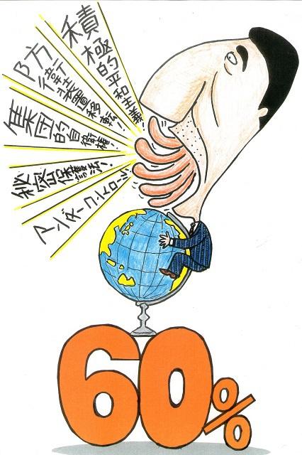 橋本勝の21世紀風刺絵日記:221回 なんとなくなんとなく アベを支持して60パーセント