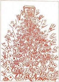 橋本勝の21世紀風刺絵日記:222回 集団的自衛権にレッドカードを!!