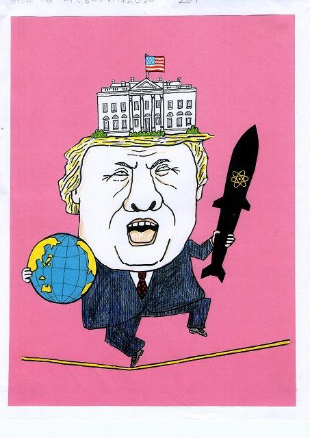 橋本勝の21世紀風刺絵日記:267回トランプでアメリカは大きな賭けにでる
