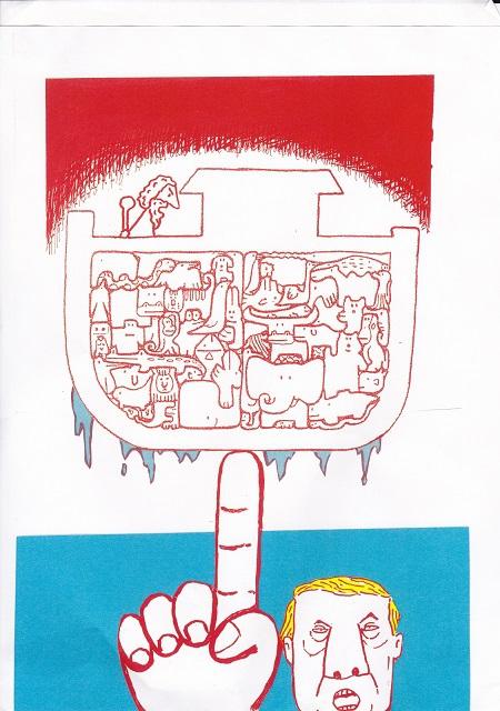 橋本勝の21世紀風刺絵日記:286回 トランプは地球のいのちたちの敵になる