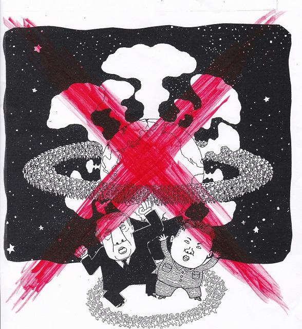 橋本勝の21世紀風刺絵日記:306回 もう、わが風刺漫画に×をつけるしかない