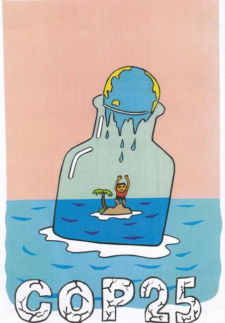 橋本勝の21世紀風刺絵日記:340回 COP25,決裂! 地球の未来はどうなるの