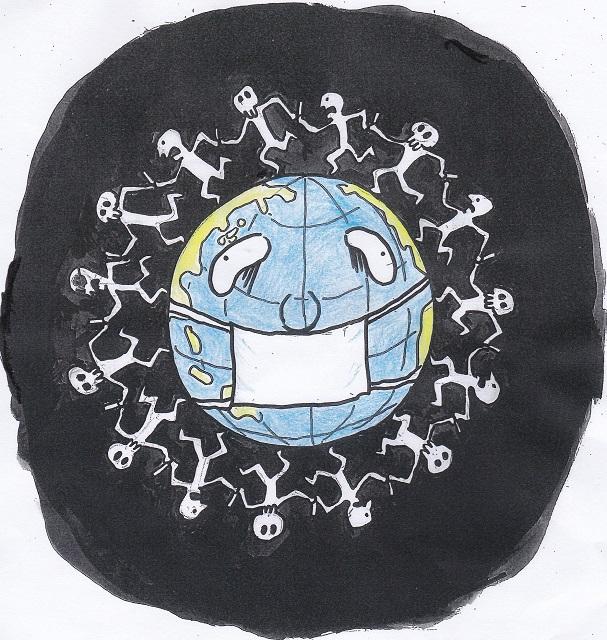橋本勝の21世紀風刺絵日記:345回  地球憲法はコロナを禁止できるか